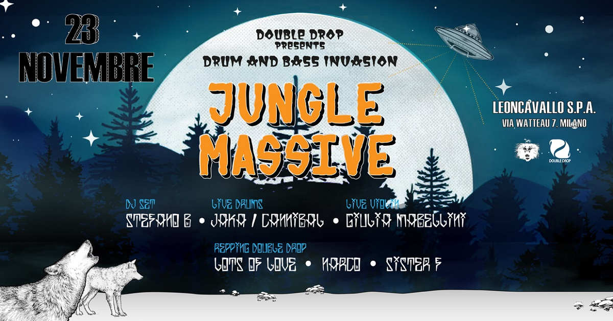 Double Drop presenta Jungle Massive, Drum n Bass Live Band.