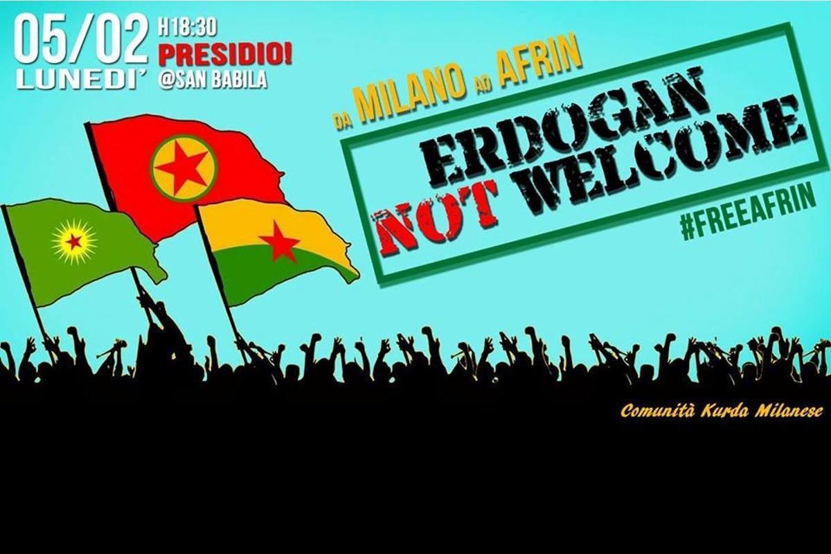 Erdogan non sei il benvenuto!