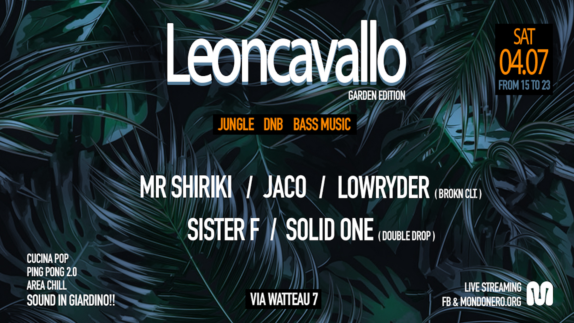 Leoncavallo Garden w/ Double Drop & Brokn Clt.