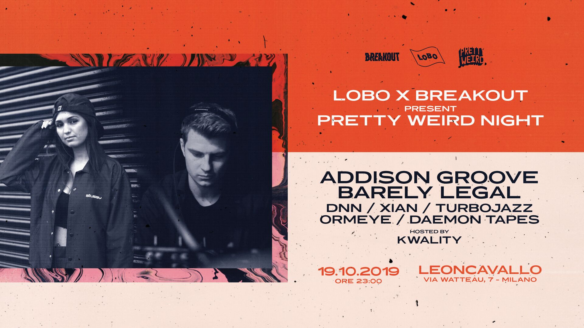 Lobo x Break Out present Addison Groove x Barely Legal